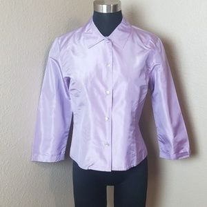 Ann Taylor Silk Lavender Blouse Nee